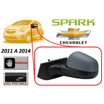 11-14 Chevrolet Spark Espejo Manual Lado Izquierdo