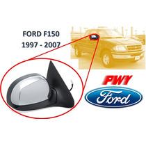 97-07 Ford F150 Espejo Lateral Electrico Cromado Derecho Pwy