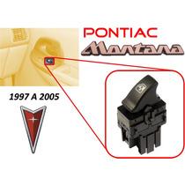 97-05 Pontiac Montana Control 1 Boton Vidrio Electrico Negro