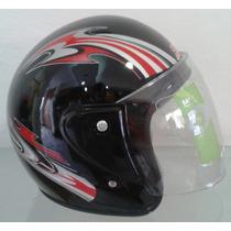Casco 3/4 Sayto / Moto, Motoneta, Protección, Motociclista