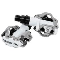 Par Pedal De Contacto Shimano Mtb Pd-m520 Blanco Con Placas