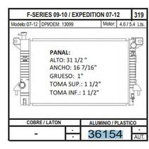 Radiador F-series 09-10 /expedition 07-12 07-12. V8 4.6/5.4