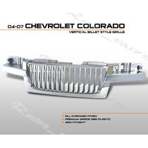 Parrilla Cromada Lujo Vertical Chevrolet Colorado 04 05 07