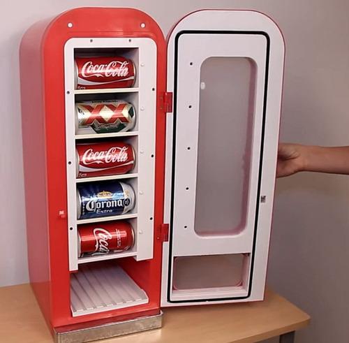 Refrigerador dispensador de coca cola retro hasta 10 latas - Dispensador de latas ...