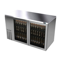 Asber Abbc-58-sg Refrigerador Contrabarra 2 Puertas Cristal