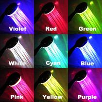 Regadera Multicolor 7 Cambios De Luz 9 Leds Con Envío Gratis