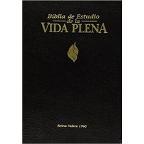 Biblia De Estudio Vida Plena Piel Indice Reina Valera 1960