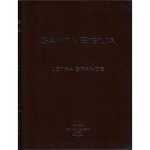Biblia Letra Grande Imitación Piel Café Con Indice