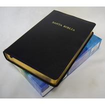 Biblia De Estudio Arco Iris Piel Fabricada Negro Rvr60
