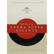 Biblia Letra Super Gigante Piel Fabricada Negro Rvr60
