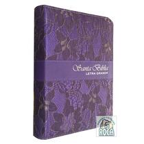Biblia Imitacion Piel Cierre Indice Morado Reina Valera 1960