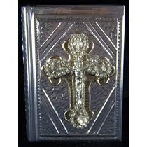 Biblia Boda Repujado Cruz Cristal 01 Ch