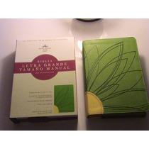 Biblia Holman Letra Grande C/ref. Imitación Piel Verde