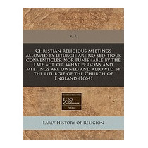 Christian Religious Meetings Allowed By Liturgie Are No, R F