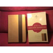 Biblia Edición Especial Con Referencias Oro/café Simipiel