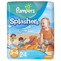Pampers Splashers Desechable Swim Pants Tamaño 4.3 24 Ct