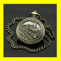 Reloj De Bolsillo Ferrocarrilero Locomotora De Vapor