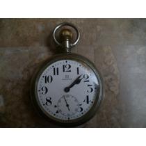 Antiguo Reloj De Ferrocarrilero Marca Omega Metal Porcelana