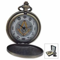 Masonic Freemasons Pocket Watch (entrega 3 - 4 Semanas)