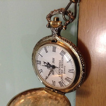 Reloj Bolsillo Funcionando. Made In Usa. Con Leontina