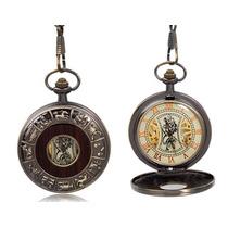 Reloj Relojes De Bolsillo De Cuerda De Bronce Calado