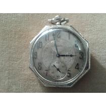 Reloj De Bolsillo Elgin 17 Joyas Oro 14 K.