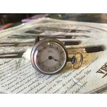 Pequeño Reloj De Bolsillo Muy Antiguo Cuerda Caja Pavonada