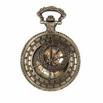 Reloj De Bolsillo Estilo Zodiaco Mecanico Cuerda Regalo