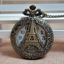 Tour Eiffel Paris Reloj Dije De Colección Con Cadena Remate