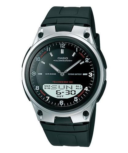 Reloj Casio Estandar Aw 80 Luz Sumergible Cronometro