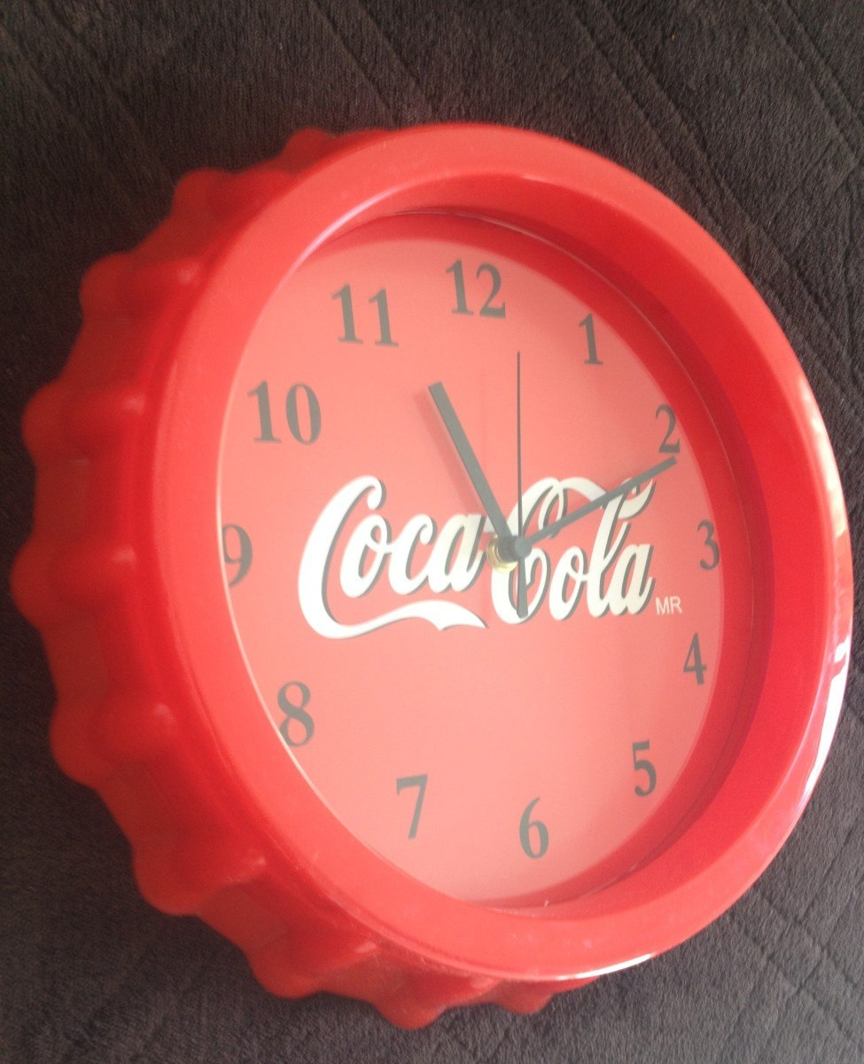 Reloj vintage de coca cola