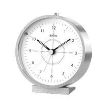 Bulova Reloj Despertador De Alumio Mesa-escritorio Original