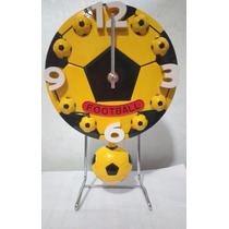 Reloj De Buró, Diseño Balón Amarillo Con Negro