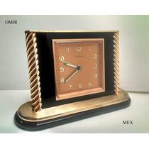 Reloj De Escritorio Suizo Cyma Cuerda Alarma Vintage Fino