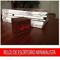 Reloj Desperador De Madera Calendario Temperatura Minimal