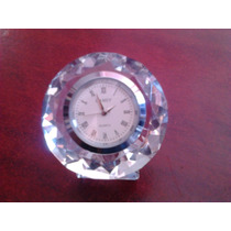 Reloj En Vidrio Forma De Diamante