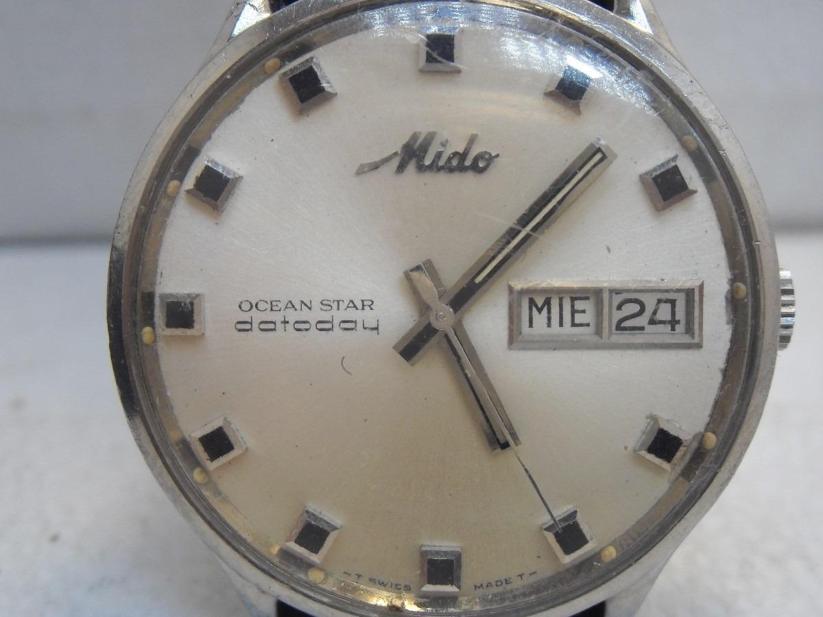 Reloj Mido Ocean Star Dateday Automatico Vintage - $ 3,400.00 en