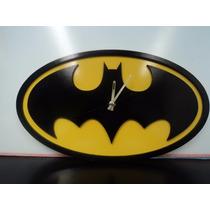 Reloj De Pared Dc Comics Batman Logo Clasico