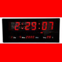 Reloj De Pared Led Números Rojos Alta Visibilidad - Cfmx