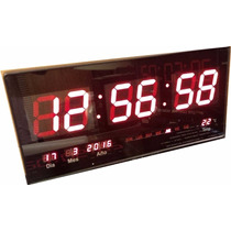 Reloj Led Digital Gigante 46cm Rojo Electrónico Fecha Hora