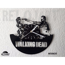 Original Reloj De Pared En Disco De Vinil - The Walking Dead