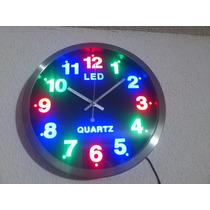 Reloj De Pared Led Moderno 25 Cms