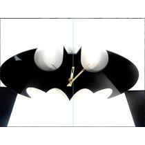 Reloj Artesanal Batman Clásico Panel De Aluminio