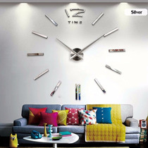 Reloj Diy 3d Moderno Decorativo Tipo Espejo De Pared