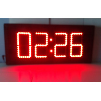 Reloj Digital De Pared De Leds Cronómetro Digitos De 15cm