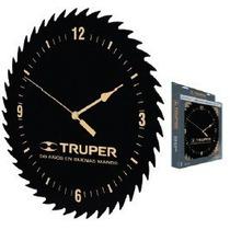 60073 Reloj De Pared Con Forma De Hoja De Sierra Truper
