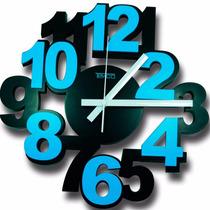 Reloj De Pared Marca Timco Minimalista Varios Colores 3d
