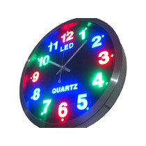 Reloj De Pared Analogo Led Con Luz Led Novedoso