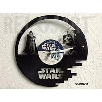 Reloj En Disco De Vinil Star Wars - Increible Y Original