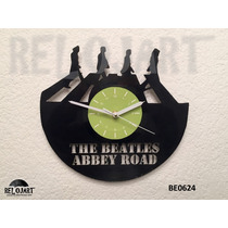 Reloj En Disco De Vinil The Beatles - Increible Y Original